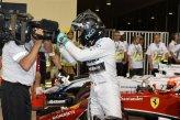 Pole sitter Nico Rosberg (GER) Mercedes AMG F1 celebrates in parc ferme.