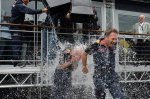 Adrian Newey (GBR) Red Bull Racing Chief Technical Officer and Christian Horner (GBR) Red Bull Racing Team Principal take the ice bucket challenge.