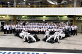 (L to R): Felipe Massa (BRA) Williams FW36; Felipe Nasr (BRA) Test and Reserve Driver, and Valtteri Bottas (FIN) Williams FW36, and the Williams F1 Team pose for their Team Photograph.