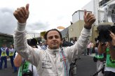 Felipe Massa (BRA) Williams celebrates in parc ferme.