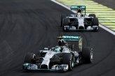 Nico Rosberg (GER) Mercedes AMG F1 W05 leads Lewis Hamilton (GBR) Mercedes AMG F1 W05.