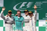 (L to R): Lewis Hamilton (GBR) Mercedes AMG F1, Matt Deane (GBR) Mercedes AMG F1 Chief Mechanic, race winner Nico Rosberg (GER) Mercedes AMG F1 and Felipe Massa (BRA) Williams celebrate on the podium.