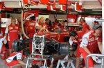 Ferrari F14 T in the garage.