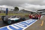 Lewis Hamilton (GBR) Mercedes AMG F1 W05 and Fernando Alonso (ESP) Ferrari F14 T. Formula One World Championship, Rd9, British Grand Prix, Qualifying, Silverstone, England, Saturday, 5 July 2014