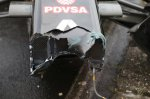 Wreckage of Romain Grosjean (FRA) Lotus E22.