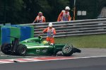 Marcus Ericsson (SWE) Caterham CT05 crashed out of the race.