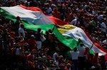Fans with Ferrari flag.
