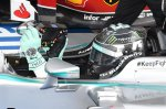 Pole sitter Nico Rosberg (GER) Mercedes AMG F1 W05 celebrates in parc ferme.