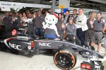 The Sauber team with Hello Kitty.