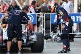 Daniel Ricciardo (AUS) Red Bull Racing in parc ferme with brake cooling fan.