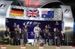 Podium (L to R): Sebastian Vettel (GER) Red Bull Racing, race winner Lewis Hamilton (GBR) Mercedes AMG F1 and Daniel Ricciardo (AUS) Red Bull Racing.