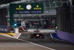 Sebastian Vettel (GER) Red Bull Racing RB10 leaves the pit lane.
