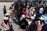 Sebastian Vettel (GER) Red Bull Racing and Kimi Raikkonen (FIN) Ferrari on the drivers parade.