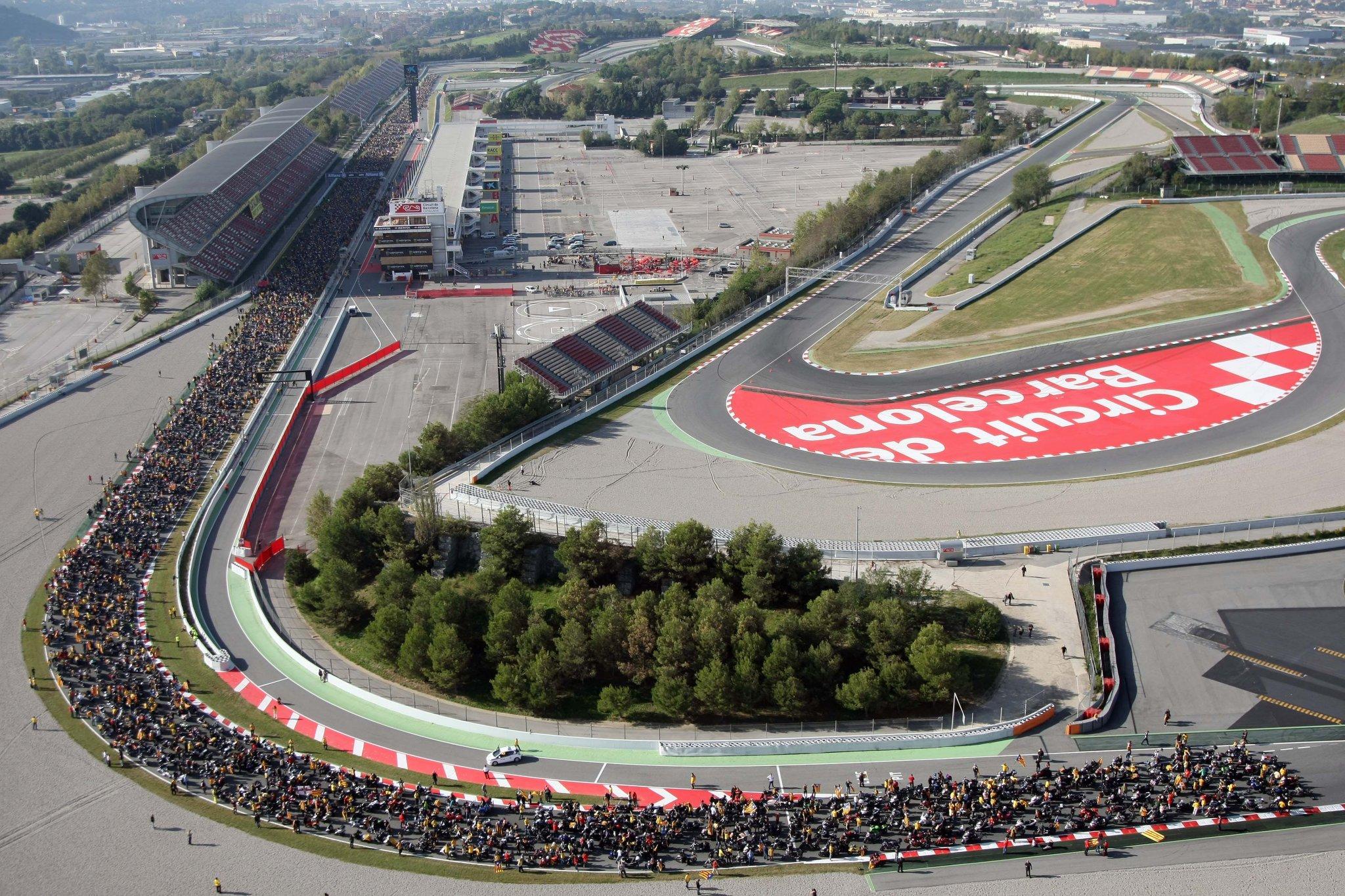 vid na trassu circuit de barcelona catalunya